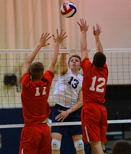 Justin Walton (13) goes for a kill.