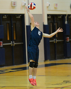 Alex Borman (8) serves for Council Rock North in Indians win over Souderton.
