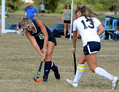 Caroline McGovern (5) scores the Golden Hawks first goal against CR North.