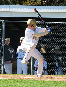 Council Rock South designated hitter Evan Fisher takes his at-bats in battle with CB South won by the Golden Hawks.