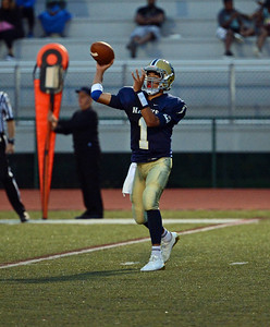 CR South quarterback Christian Jabbar (1) completes outlet pass.