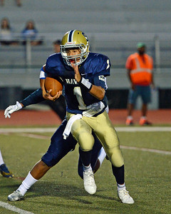 Christian Jabbar (1) rushed for 22 yards.