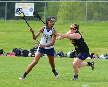 Faith Turner (1) looks for an opening in battle against Upper Moreland.
