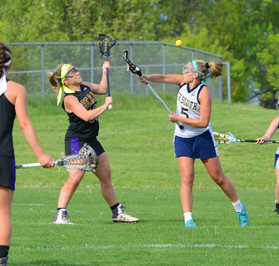 Caroline McGovern (5) wins draw in battle with Upper Moreland.