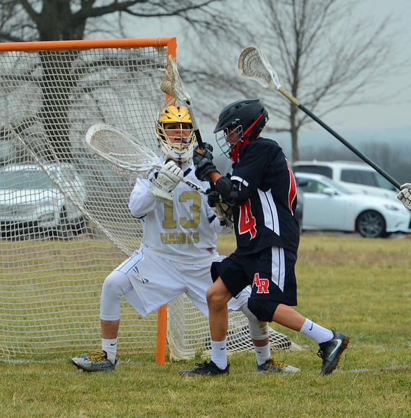Dan Schlupp (13) stands tough in goal.