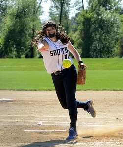 CR South junior Stephanie Andreoli (14) pitched five games in seven days.