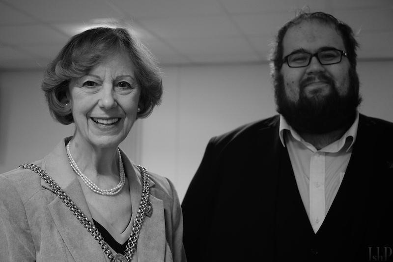 Mayor Penelope Flavell at Northampton University