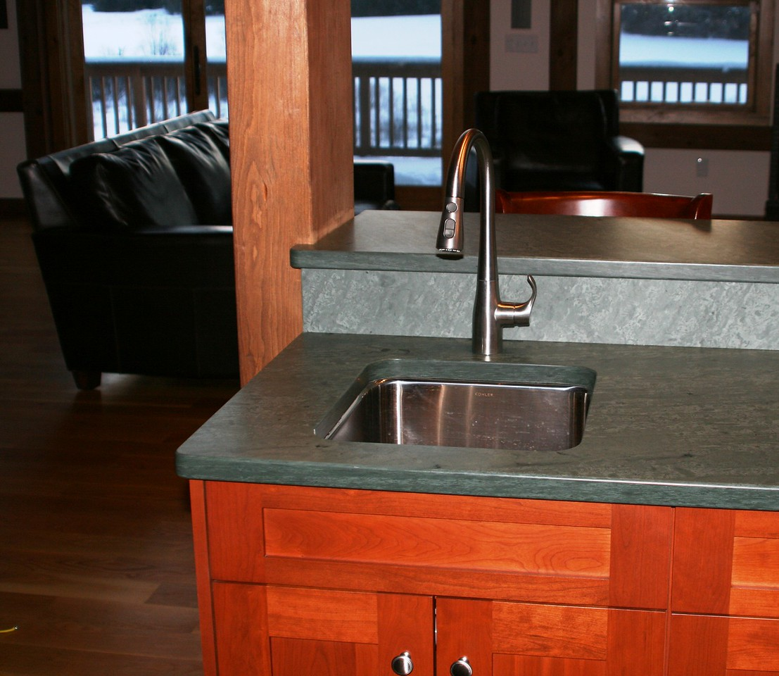 Unfading Green Honed Top Undermount Sink