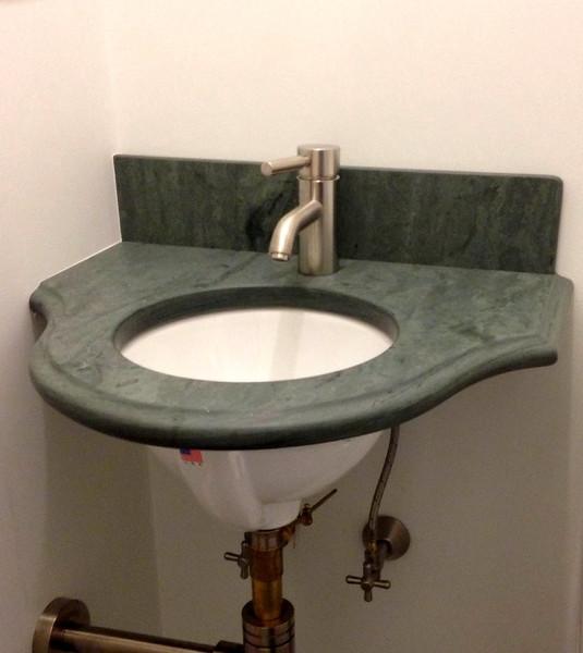 Unfading Green Vanity Honed Beveled Radius Edge