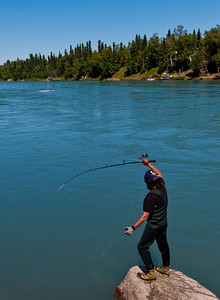 "Fishing for ""reds"" (sockeye salmon) in the Kenai River"