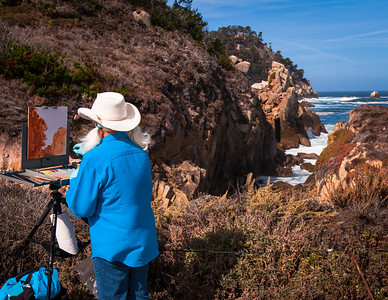 Painter at Point Lobos