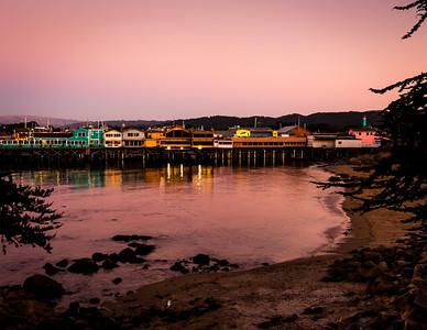 Monterey Fisherman's Wharf at Sunset