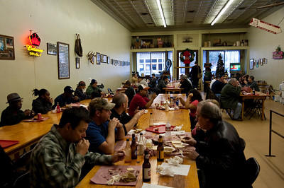 Smitty's BBQ dining room, Lockhart, Texas