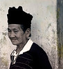 Old Woman with Black Shirt and Black Cap, Khong Toune, Laos