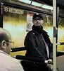 Valencia: Man on a Bus in the Rain