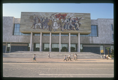 Mural at National History Museum, Tirana, Albania.