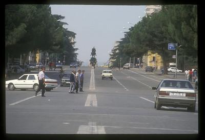Main street, Tirane, Albania.