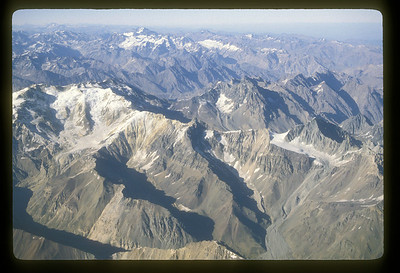 Peaks of the Andes on the Argentina - Chile border.