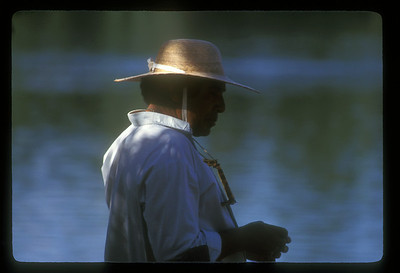 Man in a stylin' hat, Iguazu Falls National Park, Argentina.