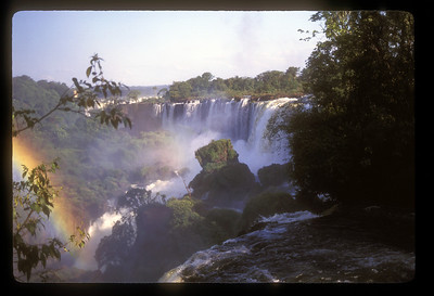 Waterfall and rainbow, Iguazu Falls National Park, Argentina.
