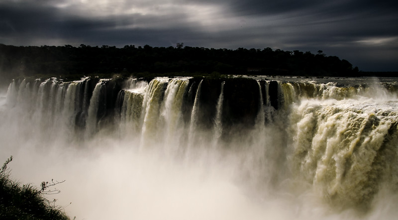 Storm Over Iguazu Falls