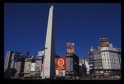 The Obelisk, dating from 1936 to commemorate the 400th anniversary of the founding of Buenos Aires, Argentina.