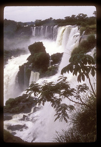 Detail of waterfall, Iguazu Falls National Park, Argentina.
