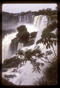 Detail of waterfall, Iguazu Falls National Park, Argentina.