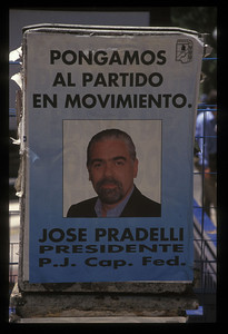 Campaign poster, Buenos Aires, Argentina.