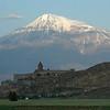 Khor Virap Monastery, Armenia, and Mt. Ararat, Turkey.
