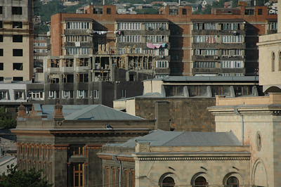 Buildings in Yerevan, Armenia.
