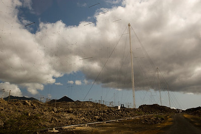 The bewildering and slightly sinister antenna array at English Bay, Ascension Island.