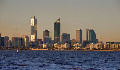 Perth, Australia and the Swan River.