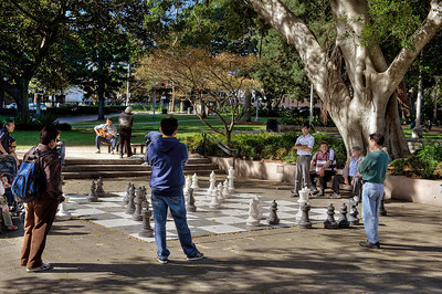 Chess match, Sydney, Australia.