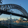 The Sydney, Australia harbour bridge.