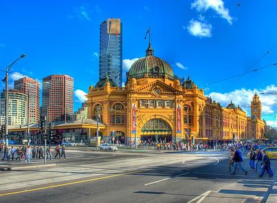 Flinders Street Railway Station, Melbourne, Australia HDR.