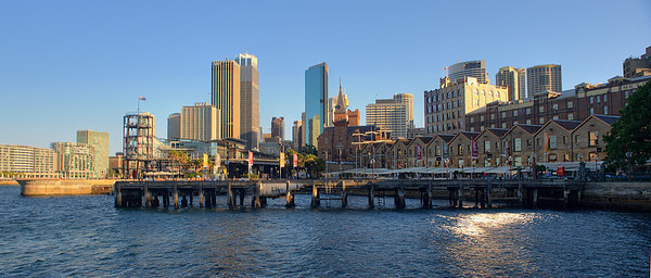 Wharf at the Rocks, Sydney, Australia.
