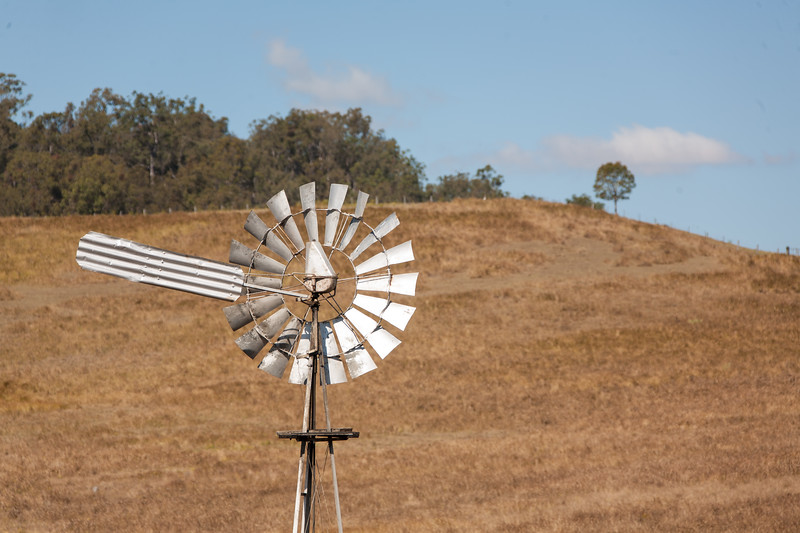 Windmill In Field