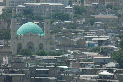 Mosque and City Detail, Baku, Azerbaijan.
