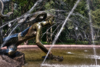 HDR of Fountain in Janki Kupaly Park, Minsk, Belarus.