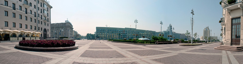 Panorama, Soviet or Independence Square, Minsk, Belarus.