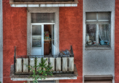 HDR: Apartment building in Minsk, Belarus.