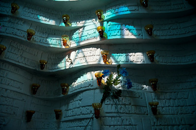 Interior of Afghan War Memorial on Island of Tears (Ostrov Slyoz), near Old Town Minsk, Belarus.