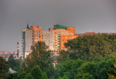 HDR: Urban architecture, Minsk, Belarus.
