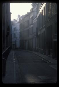 Lonely road, Antwerp, Belgium.