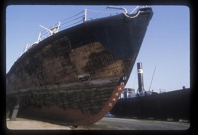 Ships ashore at Antwerp, Belgium.