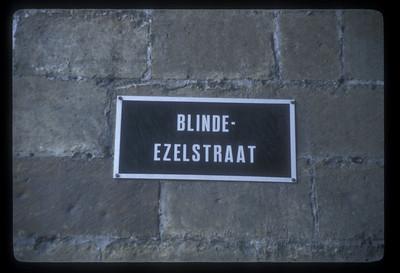 Street sign, Bruges, Belgium.