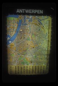 Map of Antwerp, Belgium.
