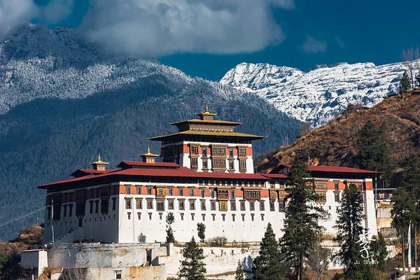 Paro Dzong in Winter