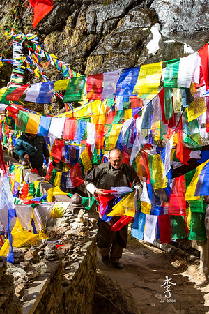 Prayer flags on route to Tiger's Nest